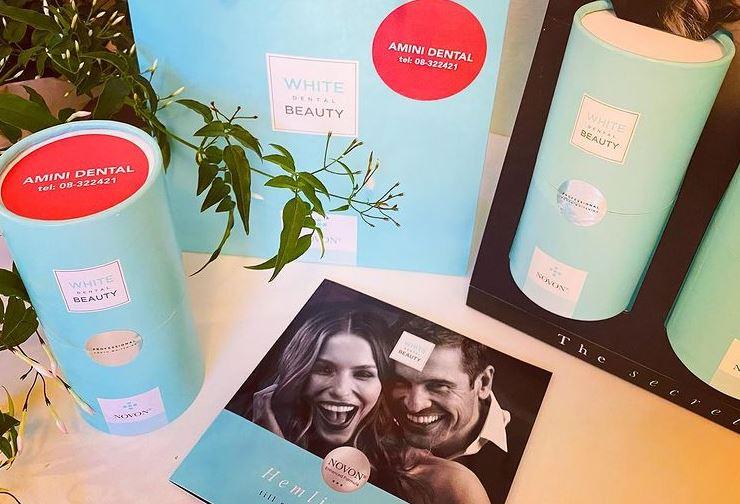 White dental beauty packaging style italiano